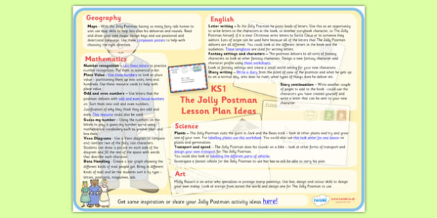 Lesson Plan Ideas KS1 to Support Teaching on The Jolly Postman - the jolly postman, the jolly postman lesson plan, the jolly postman lesson ideas, lesson plan, mtp, lesson ideas