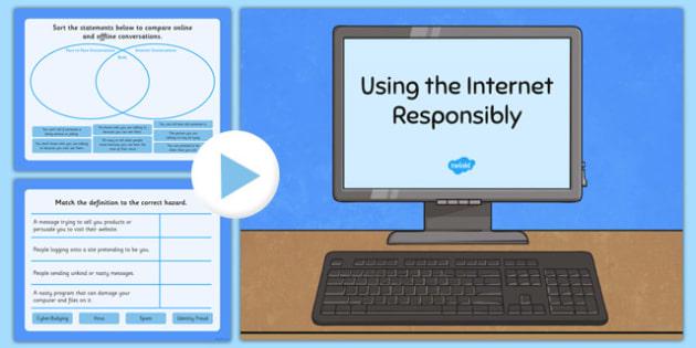 Using The Internet Responsibly Flipchart - internet, safety