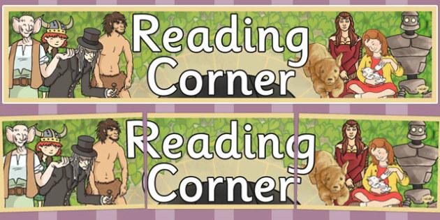 Reading Corner Display Banner KS2 - reading corner, display banner
