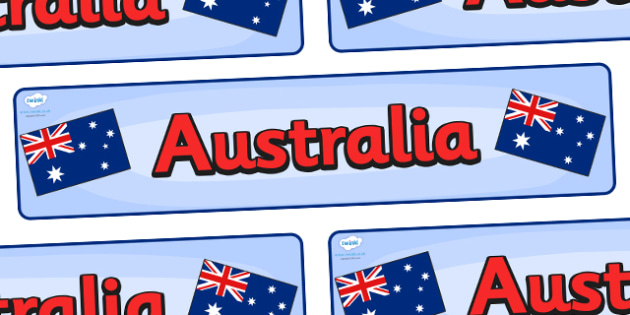 Australia Display Banner - Australia, Olympics, Olympic Games, sports, Olympic, London, 2012, display, banner, sign, poster, activity, Olympic torch, flag, countries, medal, Olympic Rings, mascots, flame, compete, events, tennis, athlete, swimming