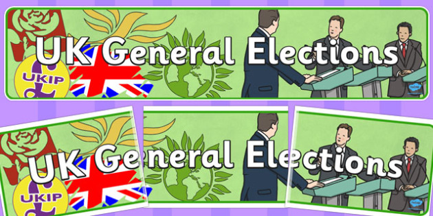 UK General Elections Display Banner - display, banner, elections