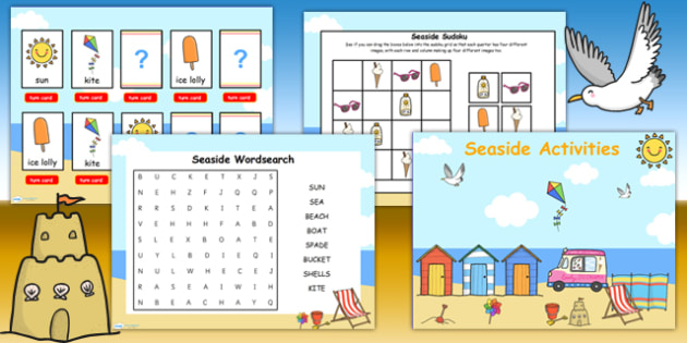 Seaside Themed Flipchart Activity Pack - seaside activities, sea