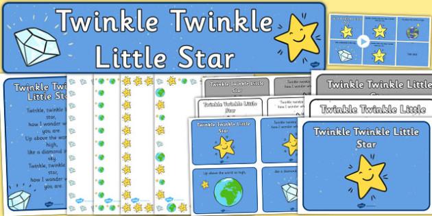 Twinkle Twinkle Little Star Resource Pack - twinkle twinkle little star, resource pack, pack, themed resource pack, twinkl twinkl little star pack