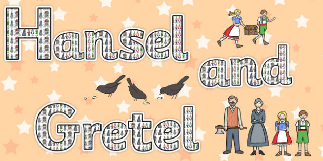 Hansel and Gretel Display Lettering - display, lettering, hansel