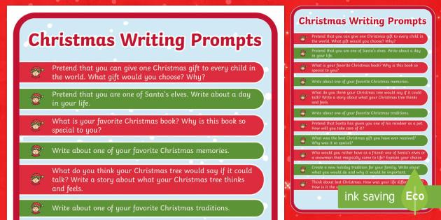 Christmas Writing Prompts - Christmas USA, writing, prompt, christmas, story starters
