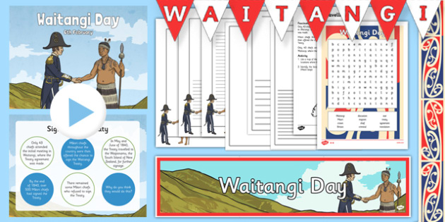 Waitangi Day Resource Pack - nz, new zealand, waitangi day, waitangi, treaty, activities