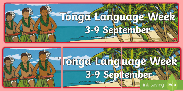 Tonga Language Week Display Banner