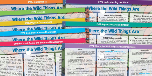 Lesson Plan and Enhancement Ideas EYFS to Support Teaching on Where the Wild Things Are - planning, EYFS, lessons