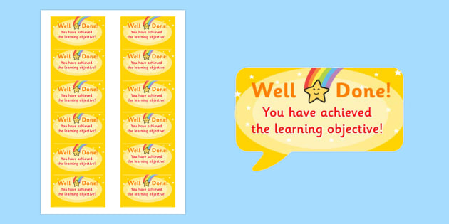 Time Saving Speech Bubble Stickers for Marking Learning Objectives - marking, time saving, stickers, time saving stickers, stickers for marking, learning objectives, learning, objectives, please remember your learning objective, speech bubble sticke