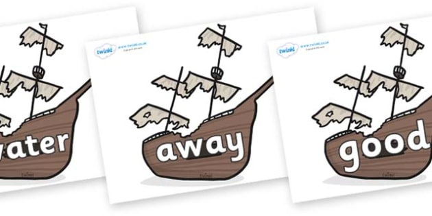 Next 200 Common Words on Shipwrecks - Next 200 Common Words on  - DfES Letters and Sounds, Letters and Sounds, Letters and sounds words, Common words, 200 common words