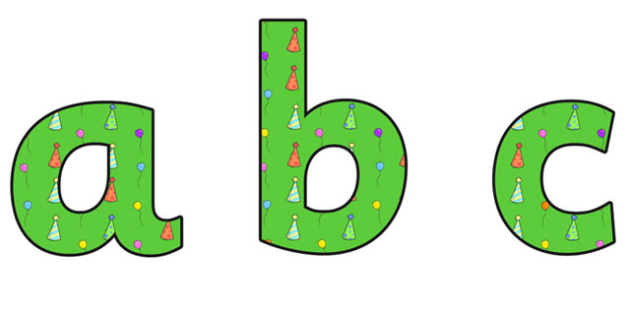 Birthday Themed A4 Display Lettering 3 - Birthday, Birthday Themed, Birthday Display Lettering, A4 Display Lettering, Display Lettering 3