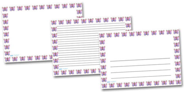 Pink Butterfly Landscape Page Borders- Landscape Page Borders - Page border, border, writing template, writing aid, writing frame, a4 border, template, templates, landscape