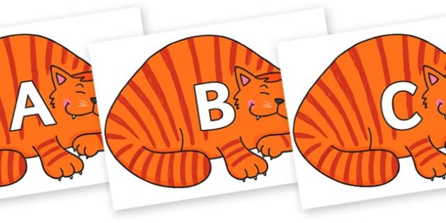 A-Z Alphabet on Hullabaloo Cat to Support Teaching on Farmyard Hullabaloo - A-Z, A4, display, Alphabet frieze, Display letters, Letter posters, A-Z letters, Alphabet flashcards