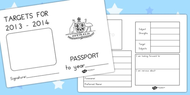 Passport To The Next Year Writing Frames - next year, transition
