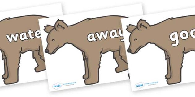 Next 200 Common Words on Bears - Next 200 Common Words on  - DfES Letters and Sounds, Letters and Sounds, Letters and sounds words, Common words, 200 common words