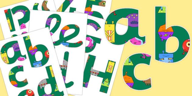 Alien Themed Display Lettering - alien, themed, display lettering, display, lettering