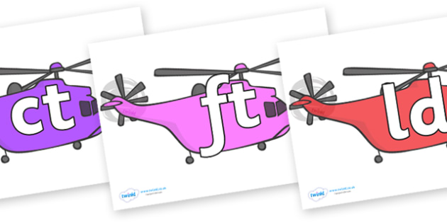 Final Letter Blends on Helicopter - Final Letters, final letter, letter blend, letter blends, consonant, consonants, digraph, trigraph, literacy, alphabet, letters, foundation stage literacy