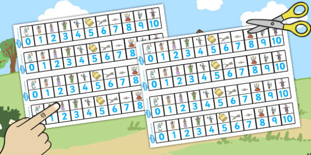 Dick Whittington Number Track 1 10 - count, counting, maths