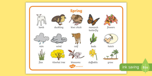 New Zealand Spring Word Mat