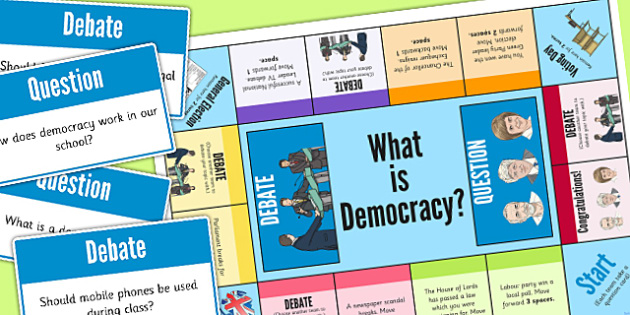 What is Democracy? Board Game - democracy, board game, game