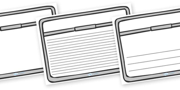 Train Window Page Borders -  border, page border, a4 border, template, train, window