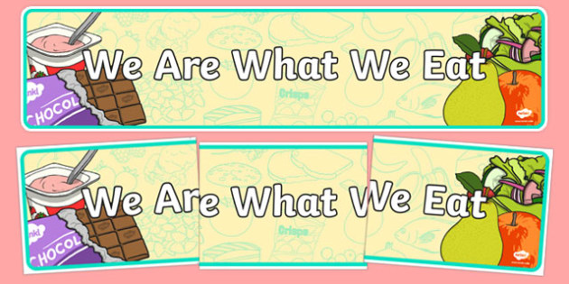 We Are What We Eat Display Banner - we are what we eat, IPC display banner, IPC, we are what we eat display banner, IPC display