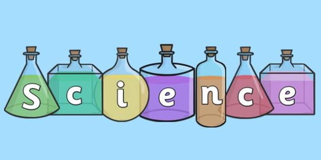 Science On Science Bottles Display Cut Outs - science, display