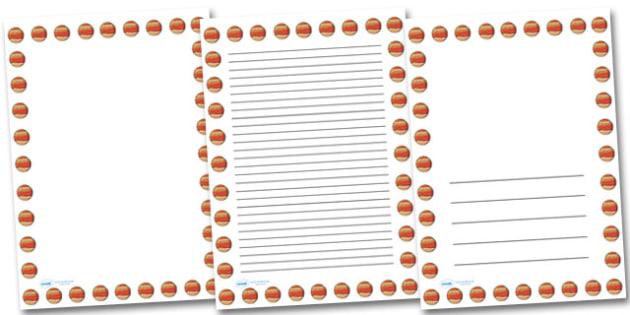 Jupiter Portrait Page Borders- Portrait Page Borders - Page border, border, writing template, writing aid, writing frame, a4 border, template, templates, landscape