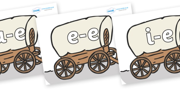 Modifying E Letters on Wagons - Modifying E, letters, modify, Phase 5, Phase five, alternative spellings for phonemes, DfES letters and Sounds