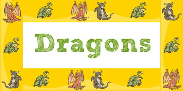 Dragon Display Borders - display border, display, border, dragon