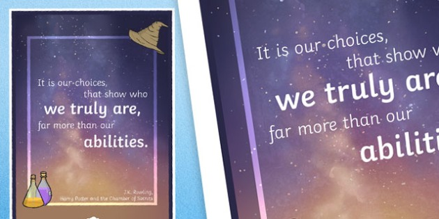 It Is Our Choices Motivational Poster - motivation, display