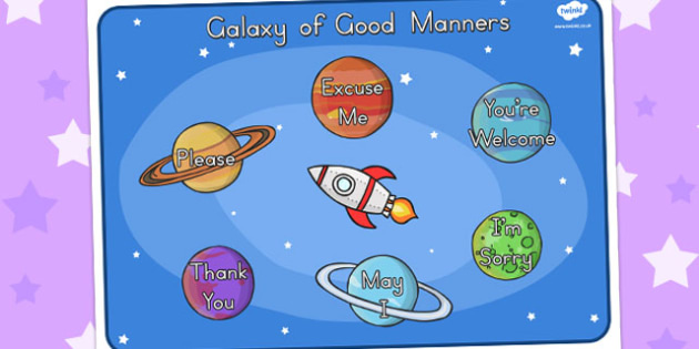 Galaxy of Good Manners Display Poster - posters, displays, banner
