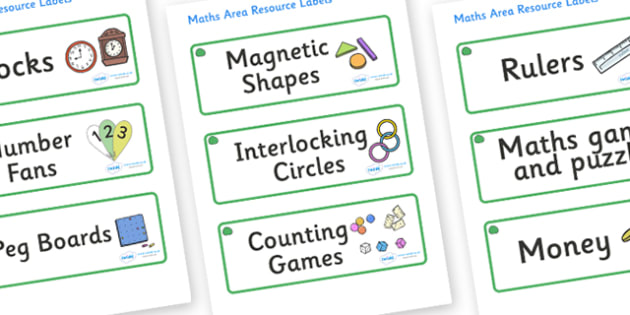 Jade Themed Editable Maths Area Resource Labels - Themed maths resource labels, maths area resources, Label template, Resource Label, Name Labels, Editable Labels, Drawer Labels, KS1 Labels, Foundation Labels, Foundation Stage Labels, Teaching Labels