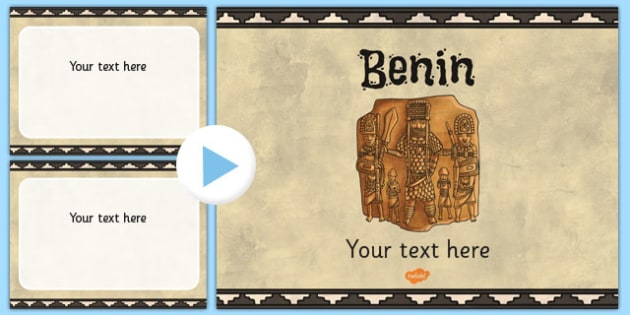 Benin Themed PowerPoint Template - benin, template, powerpoint