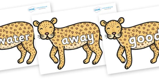Next 200 Common Words on Leopards - Next 200 Common Words on  - DfES Letters and Sounds, Letters and Sounds, Letters and sounds words, Common words, 200 common words
