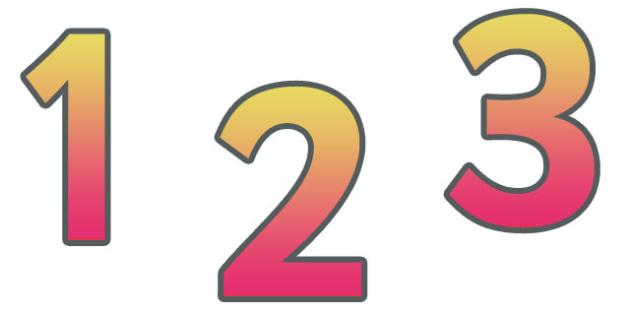 0-9 Display Numbers (Orange Grad) - Display numbers, 0-9, numbers, display numerals, display lettering, display numbers, display, cut out lettering, lettering for display, display numbers