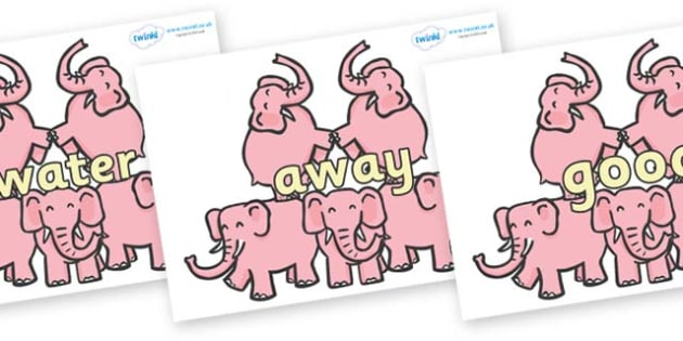 Next 200 Common Words on Five Elephants - Next 200 Common Words on  - DfES Letters and Sounds, Letters and Sounds, Letters and sounds words, Common words, 200 common words