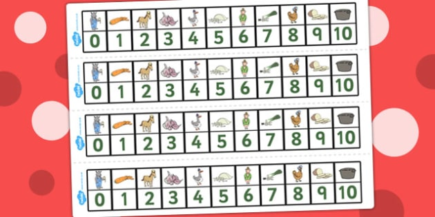Number Track 0-10 to Support Teaching on What's The Time, Mr Wolf? - Numbers, Visual