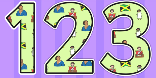 Mary Seacole Themed Display Numbers - mary seacole,  display numbers, themed number, classroom number, numbers for display, numbers, numbers for display