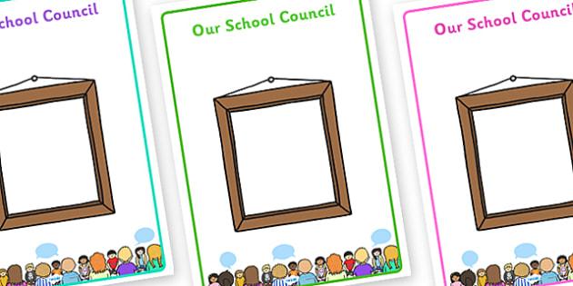 School Council Member Display Posters - School council, member display, council, council members, member name, member, class council, display pack, poster, display