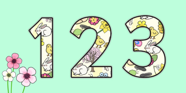Spring Themed Display Numbers - Display numbers, spring themed, spring themed display numbers, spring display, themed display numbers