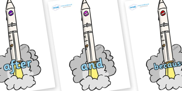 Connectives on Launching Rockets - Connectives, VCOP, connective resources, connectives display words, connective displays