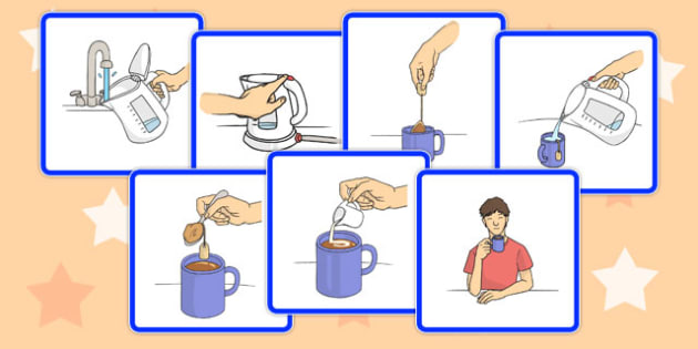 Making Hot Chocolate Sequence Card