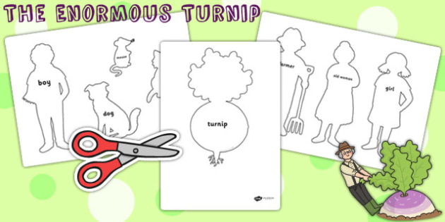 The Enormous Turnip Shadow Puppets - puppets, role play, stories