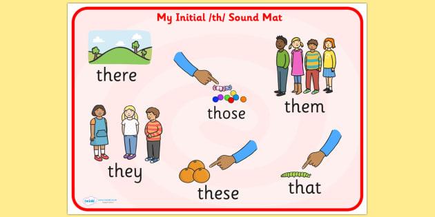 th Sound Mat - th, sounds, sound, sound mat, th sound, visual aid