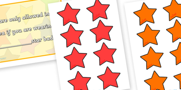 Area Display Sign Star Badges - area, special area, colour, star, sign, badge, star badges, specific area display, red, green, yellow, stars