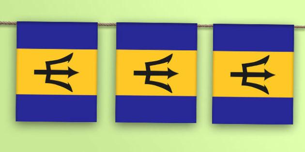 Barbados Flag Bunting - barbados flag, barbados, flag, bunting, display bunting, display