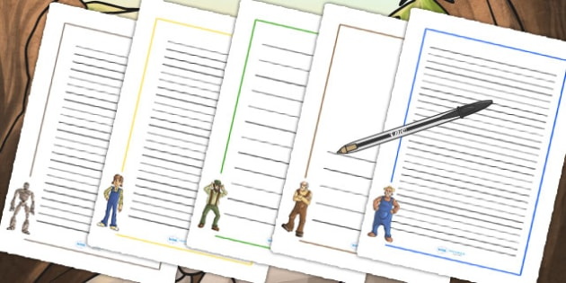The Iron Man Page Borders - iron man, story book, stories, border