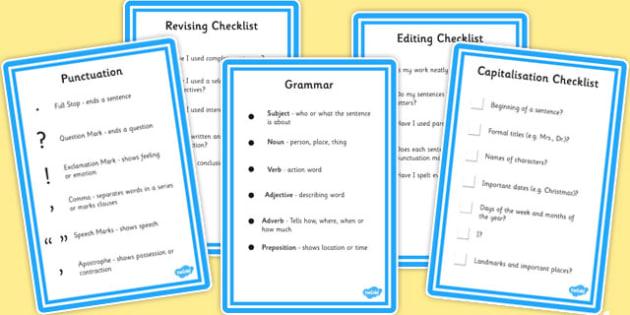 SPaG Writing Checklists - spag, writing, checklist, SPaG, write
