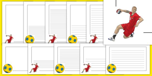 Rio 2016 Olympics Handball Page Borders - rio 2016, 2016 olympics, rio olympics, page borders